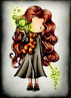 Kind of a weird cartoon version of Hermione, but I like it.
