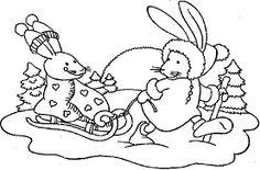 Resultado de imagen para dibujo conejo abrigado