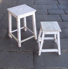 Solid wooden stools. Kabinett Vintage, 66 Piper St, Kyneton.