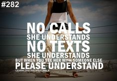 No calls she understands no texts she understands but when you see her... | Unknown Picture Quotes | Quoteswave