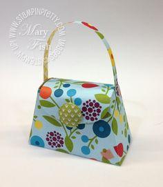 Stampin up big shot die cutting machine petite purse catalog favor box bright blossoms