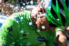 Champagne showers with Peter Sagan.