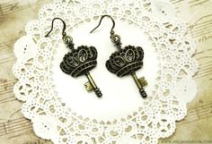 Crown Key Earrings