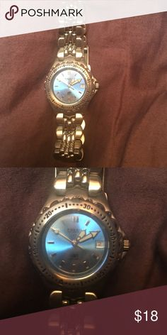 Women's Fossil Watch Silver fossil watch with light blue pearl face. Fossil Accessories Watches