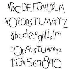 Little Kid Handwriting Font handwritten on pinterest hand lettering ...