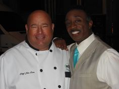Chef Jim meets Wayne Dawson from Channel 8's morning show news.