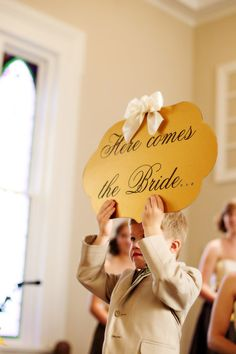 Here Comes the Bride Sign by CreationsbyJac on Etsy, $29.99