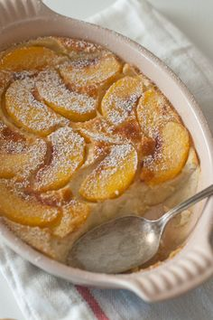 Peach Clafoutis from Sweet Treats Apple Recipes For Canning, Cooking Recipes, Cupcakes, Cupcake Cakes, Fruit Cakes, Easy Desserts, Dessert Recipes, Filipino Desserts, Clafoutis Recipes