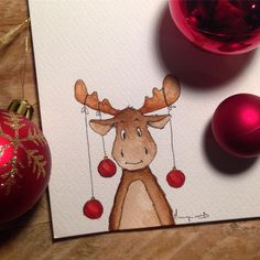 reine ReineYou can find Dessin noel and more on our website Christmas Drawing, Christmas Paintings, Christmas Art, Winter Christmas, Illustration Noel, Christmas Illustration, Diy Crafts To Do, Homemade Christmas Cards, Watercolor Cards