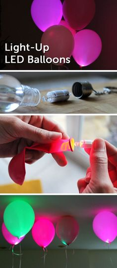 DIY Summer Party: Easy and Cleaver Ideas For Fantastic Summer Party, Light Up The Party with LED Balloons
