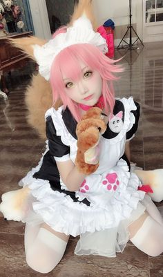 Kawaii Cosplay, Cosplay Anime, Cute Cosplay, Amazing Cosplay, Halloween Cosplay, Maid Cosplay, Asian Cosplay, Cosplay Outfits, Cosplay Girls
