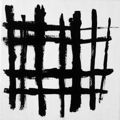 spider web 8 x 8 inch Canvas by Lynda Black / polkadottydolls on ETSY - Black and White Line Art Abstract Modern Art Painting
