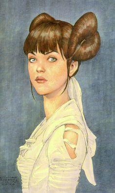 Star Wars Padmé Concept Art - Episode I