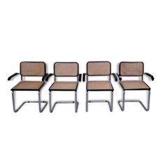 Série de 4 fauteuils Breuer - Métal - Noir - Bon état - Design - 52988