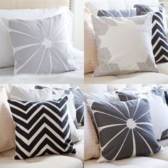 love the patterns on these pillows by sarah foote