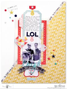 Scrapbook page. I like the design + some of the embellishments used here.