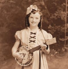 old time religion by Jim Linderman: Betty Jane Kramer and her Jesus Saves Banjo Child Evangelist old time religion