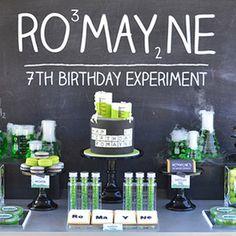 Fiestas infantiles, Inspiración cumpleaños, fiesta científica En esta ocasión Charhadas os trae una espectacular fiesta infantil, un cumpleaños que os dejará montones de ideas ...
