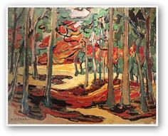 Love the Fall inspired art by Emily Carr, Group of Seven, etc - reminds me of the going to the cottage in the Fall, and the woods become painted in new colours