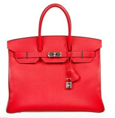 Hermes Birkin 35cm Epsom Handbag New Rouge Casaque Bag - Satchel $18,995