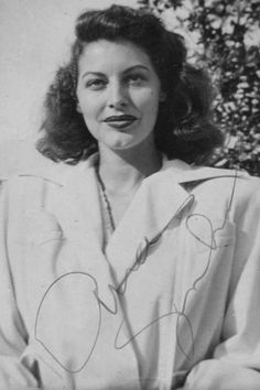 Ava Gardner, a rare candid taken in the early 1940s