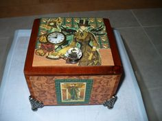 Carla's Cards: More Altered Cigar Boxes created with Graphic 45 Steampunk Debutante Collection Pic #1