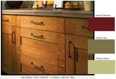 cabinets and wall/accent colors