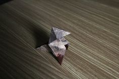 Heavy Rain Origami Bird Figure by MargaritaMakes on Etsy