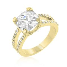 Double Band Cubic Zirconia Engagement Ring, size : 09