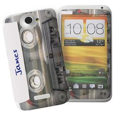 Personalised Cassette HTC One X Phone Skin  from Personalised Gifts Shop - ONLY £7.95 Mostly Sunny, Personalised Gifts For Him, Gifts Under 10, Htc One, Fathers Day Gifts, Phone, Search, Gadgets, Gadget