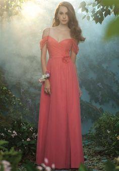 Silhouette: A-Line Neckline: Off-the-Shoulder Gown Length: Floor Train Length: None Fabric: Soft Net