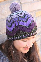 Ravelry: Ombre Chevrons Hat pattern by Kim Burnham