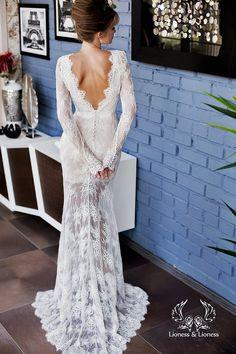 Wedding dress long sleeve wedding dress lace by DressesLioness