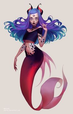 ArtStation - Milo // Feline Mermaid, Mioree .