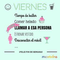 Hoy toca cargarse de energía para disfrutar el fin de semana. ¡#Felizviernes! #Viernes #Frases