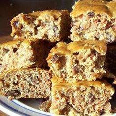 Sugarless Bars: Bar cookies sweetened only with dried fruit. Healthy Low Carb Recipes, Diabetic Recipes, Healthy Desserts, Just Desserts, Real Food Recipes, Great Recipes, Cookie Recipes, Dessert Recipes, Yummy Food