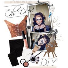 """DIY Halloween Deer Makeup"" by maria-maldonado on Polyvore"