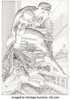 Daredevil portfolio by John Romita Jr. released by French publisher Editions Deesse in Science Fiction Illustration, Comic Covers, John Romita Jr, Comic Book Artists, Art, Universe Art, Romita, Ink Sketch, Jr Art