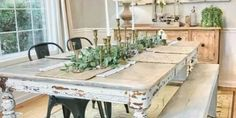 Performing Elegance by Generating a White Farmhouse Dining Table - GoodNewsArchitecture