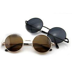 0a8e2f5467d9a New moda unissex retro dos óculos de sol das mulheres dos homens senhora  óculos estilo vintage tortoise lens quadro óculos redondos casuais em Óculos  de sol ...