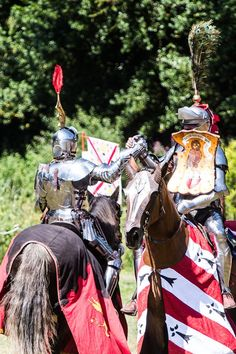 Phillip Leitch(left) and Jan Gradon(right) shake hands after their match (photo from Arundel Castle) -The Jousting Life