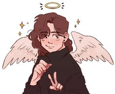 dunno when the angel!connor thing started but its cool