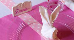 Pliage de serviette : petit lapin
