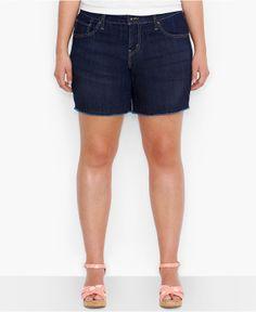http://fave.co/1iYvU7u Levi's® Plus Size Cutoff Denim Shorts, Origin Wash - Plus Size Shorts - Plus Sizes - Macy's