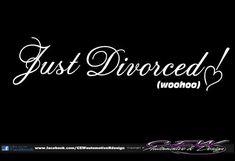 funny humor car window vinyl divorced by CEWgraphicsNdesigns