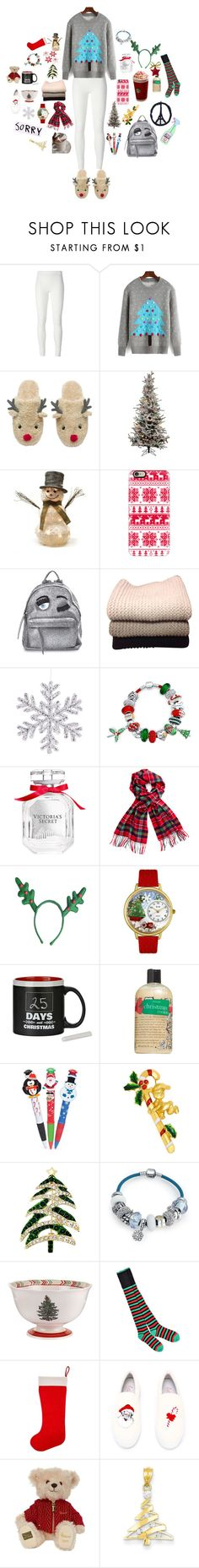 """{ Christmas }"" by itstepna ❤ liked on Polyvore featuring Rick Owens Lilies, Shea's Wildflower, Casetify, Chiara Ferragni, IRIS VON ARNIM, Bling Jewelry, Victoria's Secret, Honour, philosophy and Chicnova Fashion"