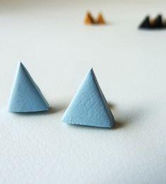 Pale blue earrings #handmade #earrings #jewelry