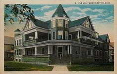 Elyria Ohio OH 1914 Old Ladies Home Collectible Antique Vintage Postcard