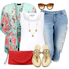 I usually don't like florals or pastels, but this kimono thing is kind of cute.