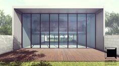 Sobrado tipo loft de alto padrão em concreto aparente, vidro e madeira. Estrutura 100% pré-fabricada. #arquitetura #design #architecture #prefab